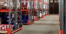 bulk supplies on shelves